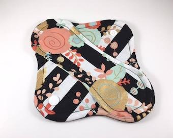 """Cloth Panty Liner 8"""" Floral Stripe"""