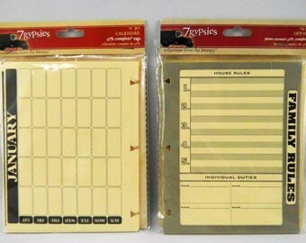 7 Gypsies Calendar & Office Scrapbooking Supplies Photo Carousel Pages Inserts