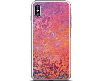 iPhone X Case Orange Phone Case Purple Ombre Abstract Art Artsy iPhone Case Purple Phone Cover iPhone 5s Case iPhone 7