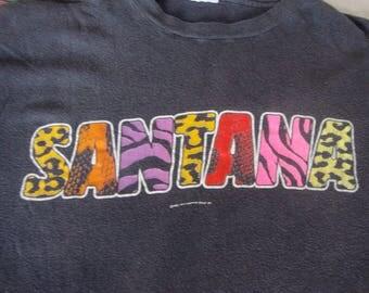 Vintage CARLOS SANTANA 80's Beyond Appearances 1985 Tour Concert shirt black T Shirt Adult size L