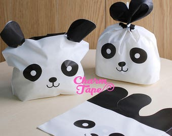 Panda Bear Bags // Cello Bags // Party Bags // Self Sealing bags Set of 25bags CB20 15x18x6 cm