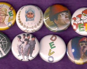 "Devo 1"" Pins Buttons Badges x 8 1980s New Wave Punk Music Are We Not Men?"