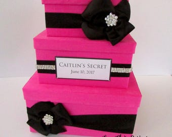 Wedding Card Box, Sweet 16 Card Holder, Victorias Secret Party, Bridal Shower Card Box, Custom  Made