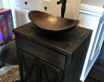 Vessel Sink Vanity, Bathroom Vanity, Wood Bathroom Vanity, Bathroom Vanity  Cabinet, Farmhouse