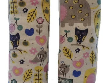 Strap covers, Owls padded strap covers, car seat strap covers, Ships today