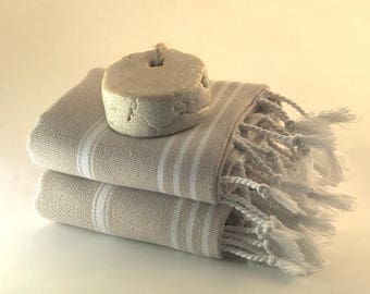 2 cotton hand towels, baby bath towel set, head towel, turkish towel, beige towel, baby beach towel, tea towel, kitchen towel, peshtemal