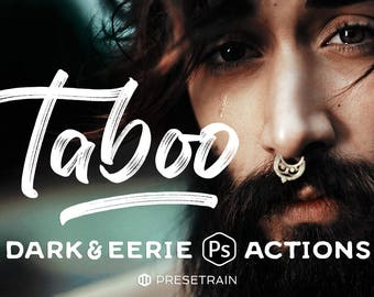 Taboo Dark Fantasy Photoshop Actions - Collection of Dark & Eerie Actions for Adobe Photoshop CS6-CC - portrait actions