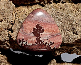 Apache Canyon Dendritic Rhyolite Cabochon, Designer Cabochons Handmade by MagicStones