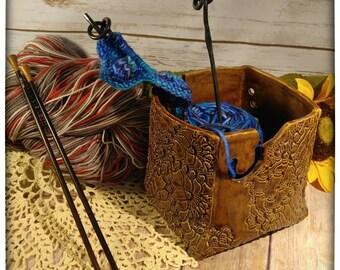 Rare Earth Brown yarn bowl