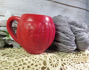 Red Velvet cabled sweater mug