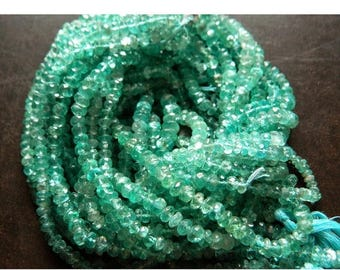 ON SALE 55% Blue Apatite Beads, 5mm Faceted Beads, Rondelle Beads, 15 Inch Strand