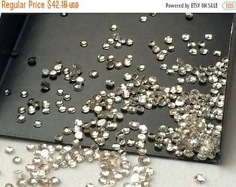 ON SALE 55% Moissanite Diamonds, Faceted Moissanite, Loose Moissanite Flat Back, Round Moissanite, 5 CTW, 50 Pcs, 2-3mm