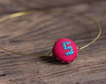 Personalized Initial bracelet - Monogram bracelet - New Mom gift i009