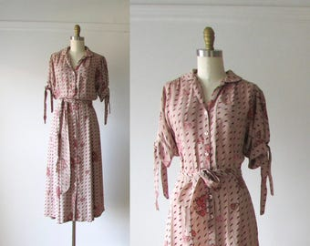 Gold Dust Woman / 70s dress / vintage 1970s dress