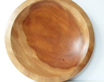 Wooden Bowl, Curly Cherry Wooden Bowl, Trinnket Bowl, Wooden Jewelry Bowl