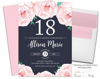18th birthday invitations   etsy, Birthday invitations