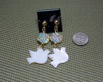 Mother of Pearl and Crystal Earrings with Optional Additional Choices