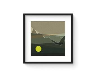 LANDSCAPE & BEYOND no.107 - Abstract Modern Minimalist Landscape Mid Century Style Art Print