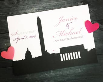 Washington DC Wedding Save the Date or Invitation