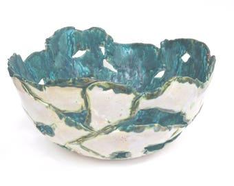 Abstract Ceramic Art Bowl