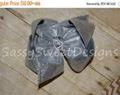 B3G1 SALE Ssd Solid Silver Glitter Sparkle Boutique Hairbow Grey Sassy Sweet Designs Custom