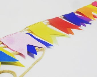 Mini Banners, fabric banner,Banner, Mini banner decor, Panel banner decor, Colorful cotton banner