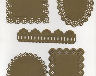 196 - Set of 5 cut outs for your cards or scrapbooking