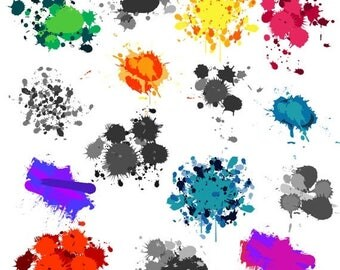 BACK TO SCHOOL Sale Paint Splatters Clip Art Clipart - Commercial and Personal