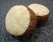 Reserved for Amber, 4 Kids Log Seats, 3 logs, Brown Bark
