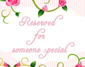 Reserved Listing for Tracey