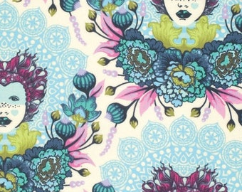 SALE 10% Off - 16th Century Selfie in Sky  PWTP062 - ELIZABETH by Tula Pink  - Free Spirit Fabric  - 1 Yard