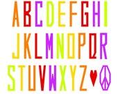 Skinny Alphabet FPP Pattern
