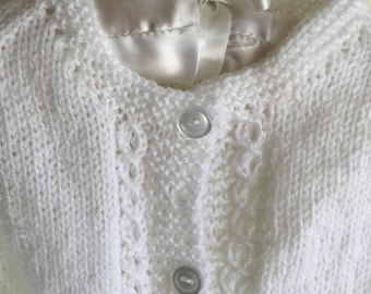 White Cable Cardigan