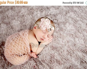 10% SALE SALE headband normally 12.99 is 2.00 off Baby headband, newborn headband, , child headband and photography prop - Daisy chiffon