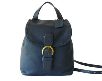 Coach Soho Blue Leather Mini Boho Backpack