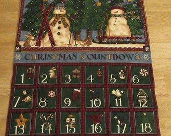 Christmas Advent Calendar - Christmas Countdown Snowmen