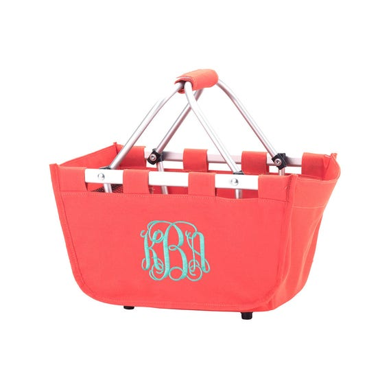 Mini Market Tote in Coral