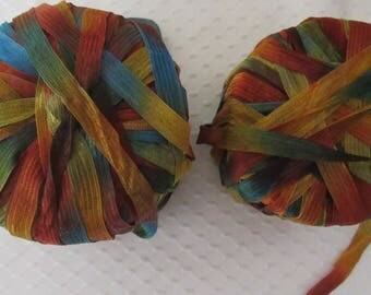 Ribbon Yarn, Copper Penny Ribbon Yarn