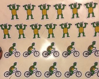 Fitness Turtle Planner Stickers