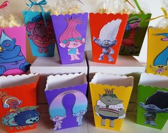 Trolls Snack Boxes - Set of 10