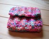 Hand Knitted Coin Purse Mini Multi Coloured Change Purse