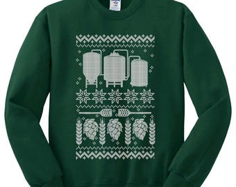 Ugly christmas sweater funny beer shirt brewing beer for Funny craft beer shirts