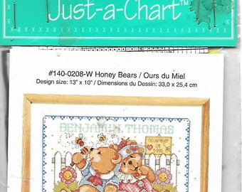 Honey Bears Birth Announcement Janlynn's Just-A-Chart