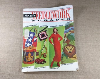 McCall's Needlework & Crafts Magazine Fall Winter 1972 1973 70s Knit Crochet Home Sewing