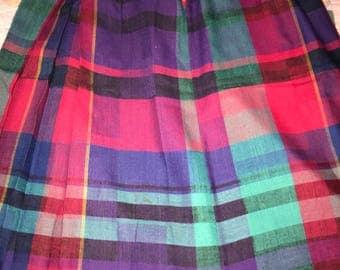 Vintage Plaid Skirt. Skirt. Vintage Plaid Skirt. Plaid Skirt.