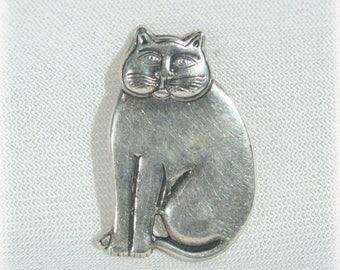 Laurel Burch Cat Brooch / Pin / Pendant