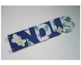Album photo mot NOUS romantique bleu