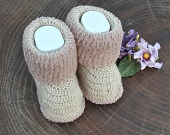 Crochet baby booties for 9-12month 11cm/4.5inches