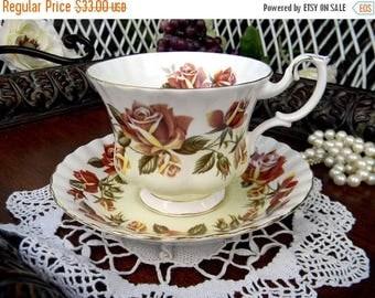 ON SALE Royal Albert Tea Cup and Saucer - Lakeside Series, Thirlmere - Vintage Teacup Set 10971