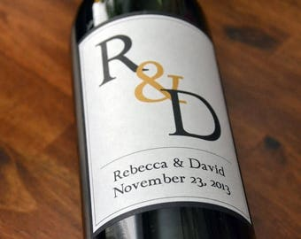 Monogram Wine Labels, Wedding Wine Label, Custom, Personalized, Label, Table Numbers, Sticker, Party, Favor, Decoration, Rehearsal Dinner